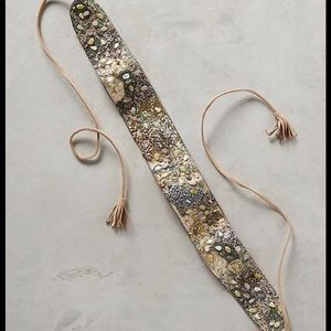 Anthropologie gold camp beaded belt 🌟🌟